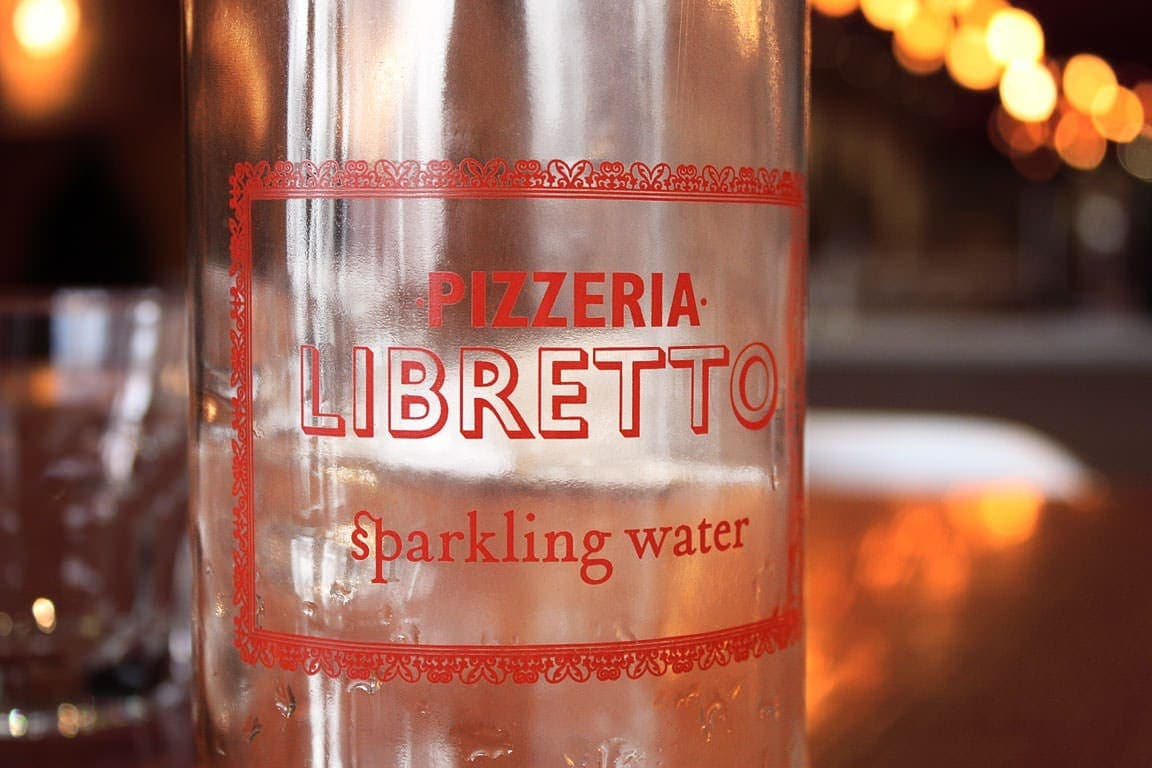 Pizzeria Libretto water bottle